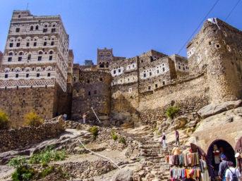 Bergdorf Al Hajjarah im Jemen
