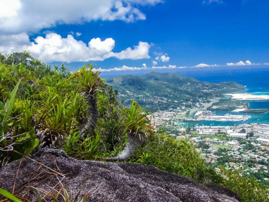 Ausblick vom Gipfel des Morne Copolia auf der Seychellen-Insel Mahe