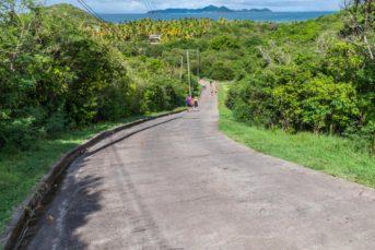 Die einzige Straße auf Mayreau