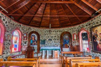 Innenraum der Kirche von Mayreau