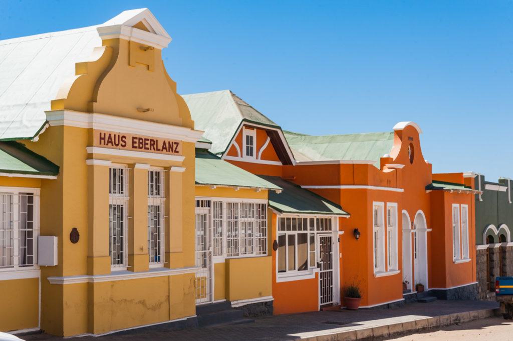 Restaurierte Häuser in Lüderitz