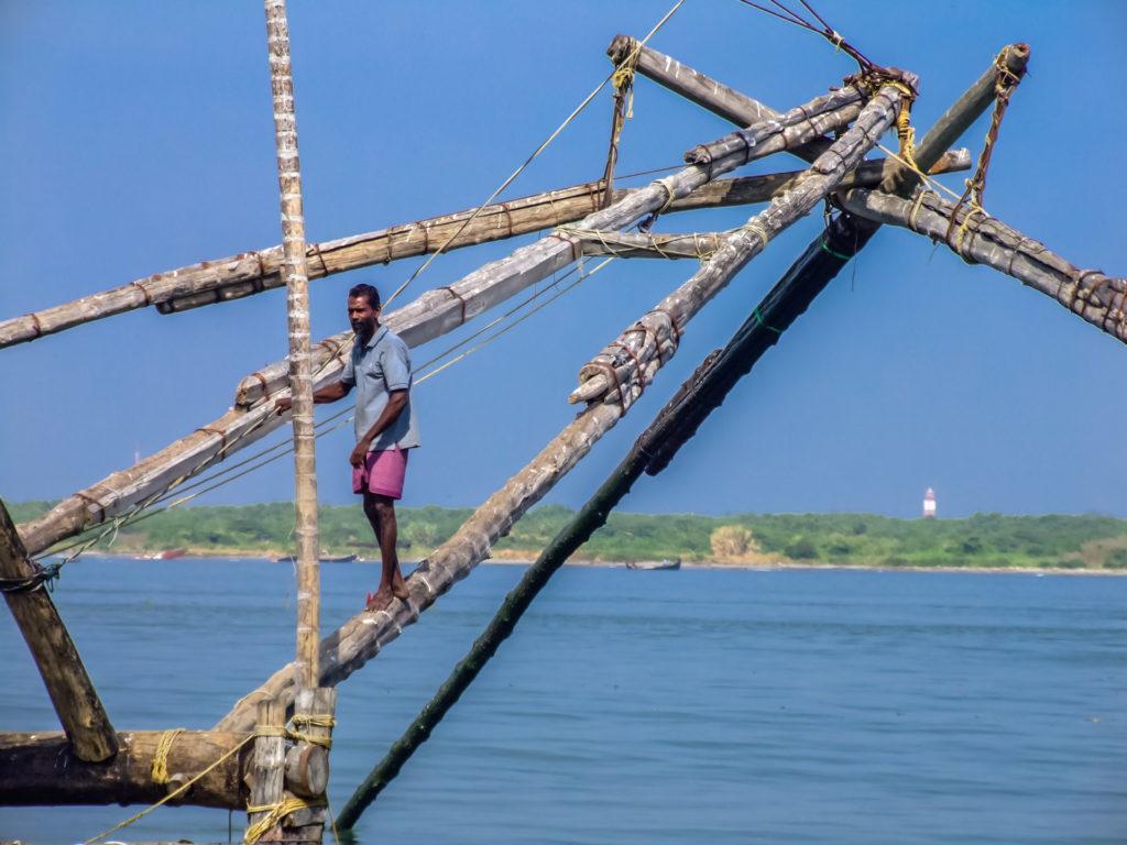 Chinesische Fischernetze im Detail