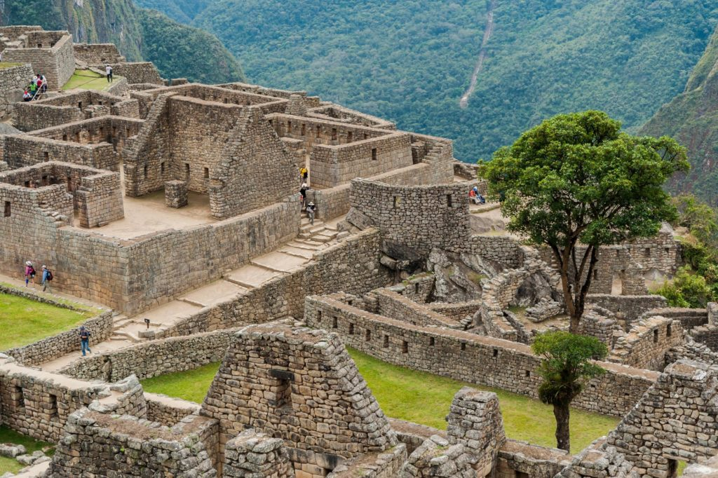 Detail-Ansicht der Inka-Stadt