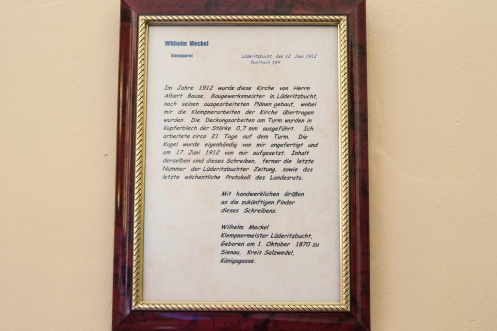 Das Schreiben des Klempnermeisters übersetzt in moderne Schrift