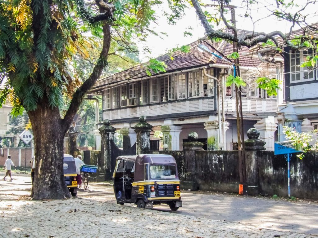 Haus im Kolonialstil in der Altstadt Fort Kochi