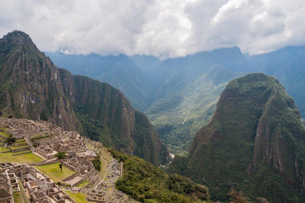 Schwer zugängliche Inka-Stadt in den Anden