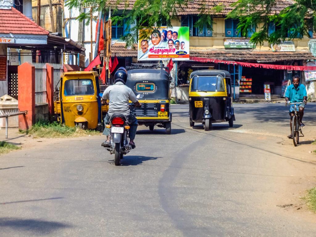 Straßenbild in der Altstadt von Fort Kochi