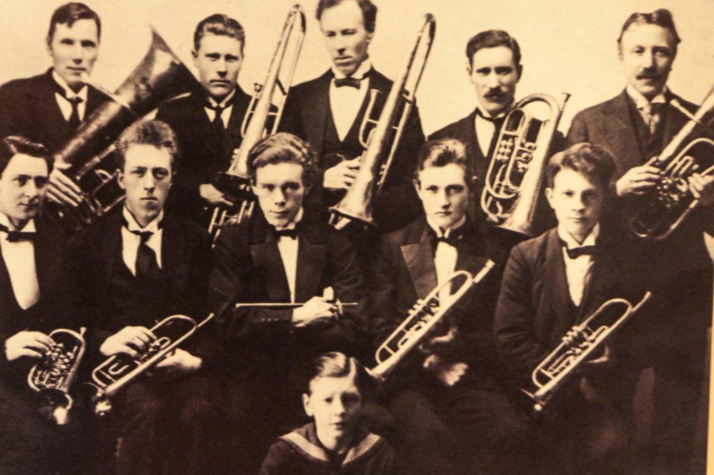 historisches Bild - Blasorchester von Isafjördur, Westfjorde