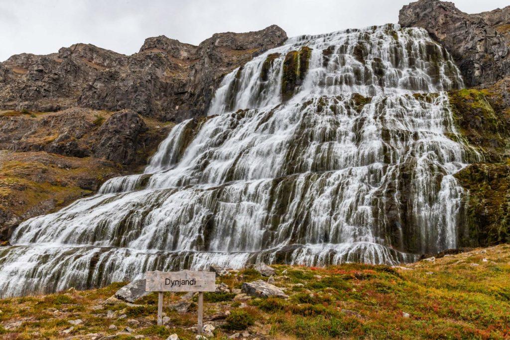 Dynjandi Wasserfall, Dynjandi foss - Westfjorde in Island