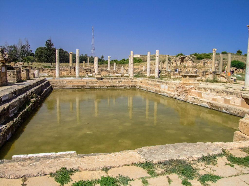 Die Hadriansbäder oder Hadriansthermen in Leptis Magna