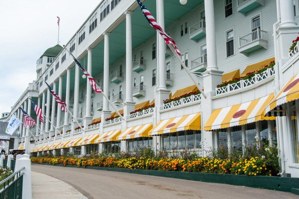 Die längste Terrasse der Welt im Grand Hotel auf Mackinac Island