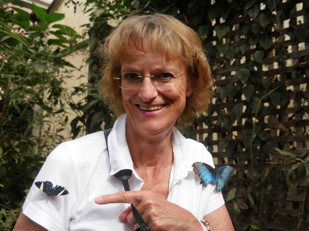 Autorin Marieluise Erhart im Butterfly House