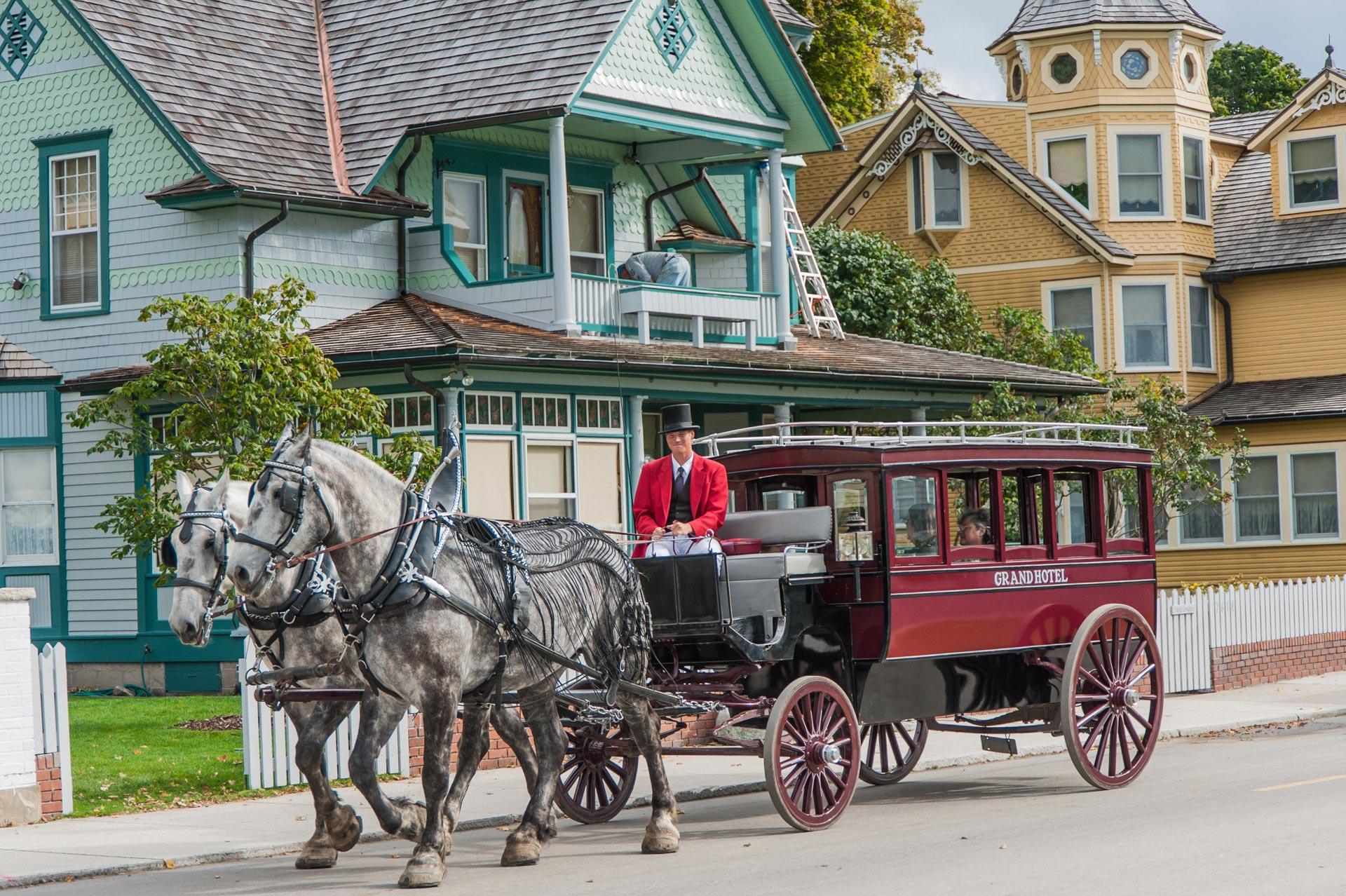 Kutsche auf Mackinac Island