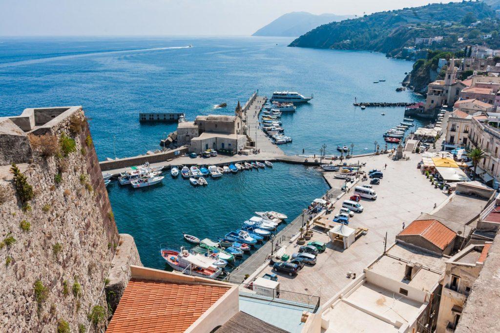 Blick auf Marina Corta von Il Castello aus