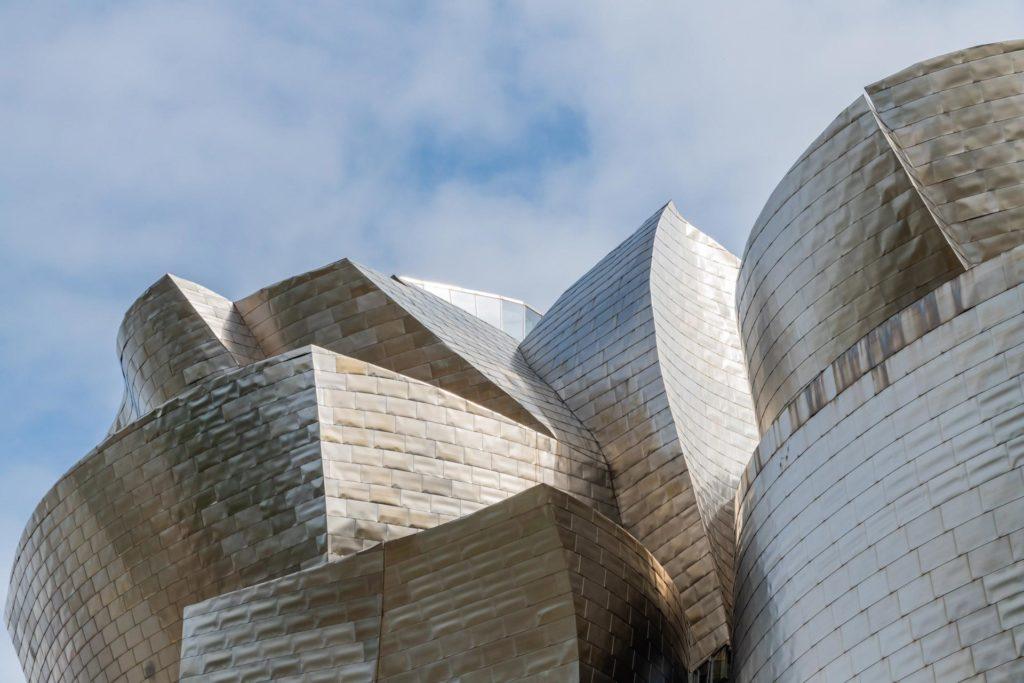 die unterschiedlichen Formen des Guggenheim-Museums in Bilbao