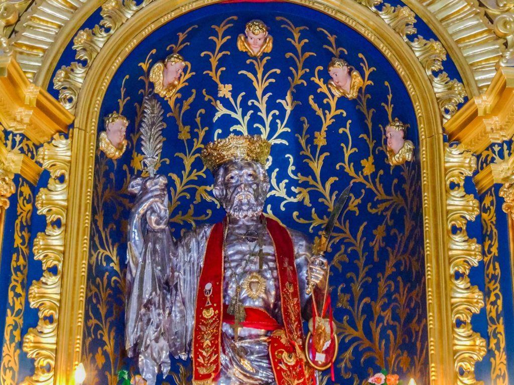 Silberstatue des Hl. Bartholomäus